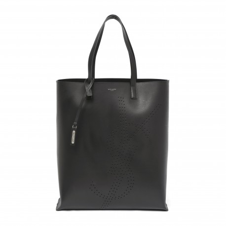 Saint Laurent Shopping Perforated-logo Leather Tote Bag