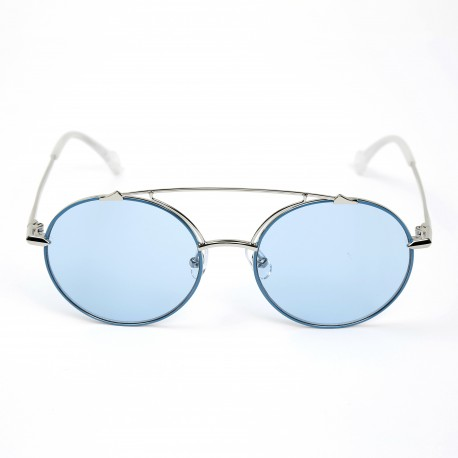 Haze Artisan Silver Blue/Solid Light Blue Sunglasses