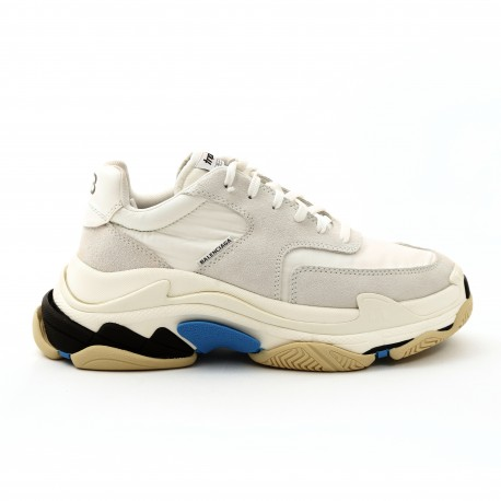 Balenciaga Triple S leather and Suede Sneakers