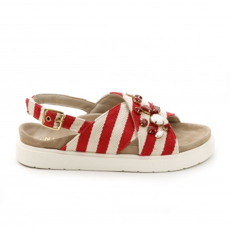 Inuikii Stripes Red Sandal