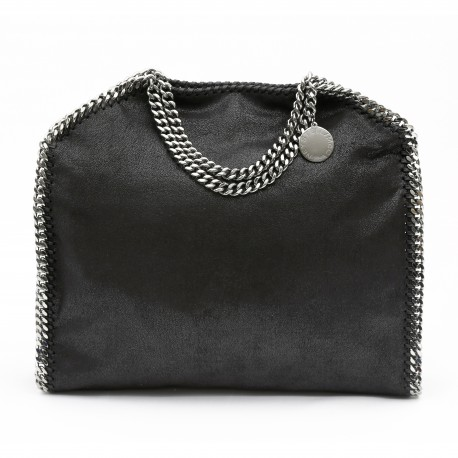Stella McCartney Black Falabella Fold Over Tote
