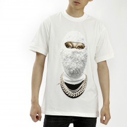 Ih Nom Uh Nit White Cotton Face Gold T-Shirt