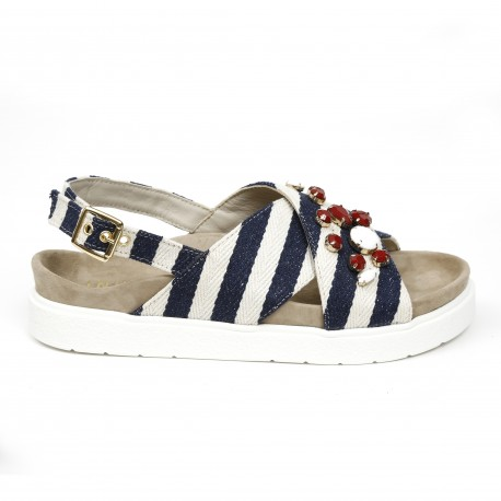 Inuikii Stripes Blue Sandal