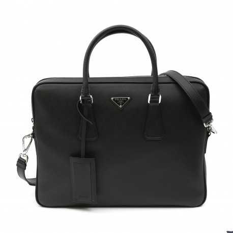 Prada Calf Leather Classic Briefcase