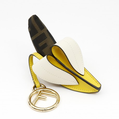 Fendi Banana Leather Keyring