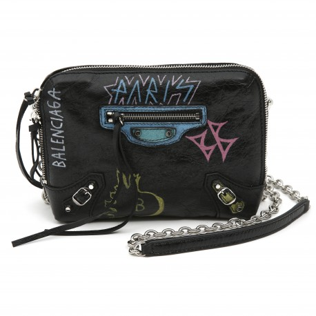 Balenciaga Small Graffiti Cross Body Bag