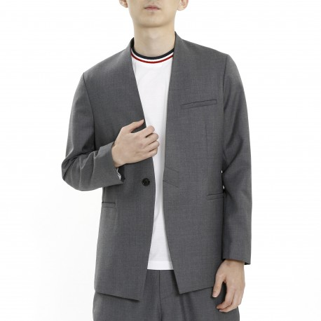 Vandalist Slim Fit Grey Blazer