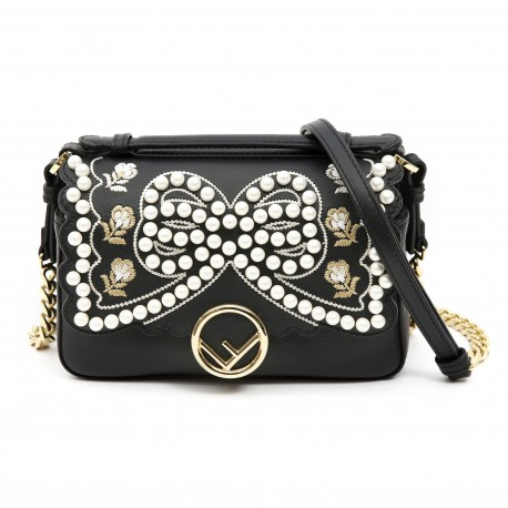 Fendi Double Micro Baguette Leather Mini-bag