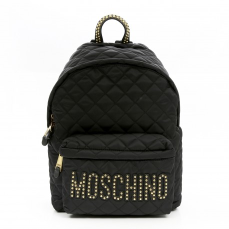 Moschino Studs Logo Medium Backpack