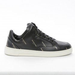 Balenciaga Women's Logo-Stamped Leather Sneakers