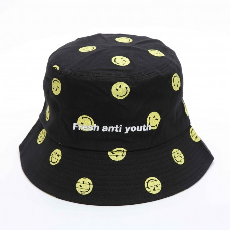 Fray X Smiley Bucket Hat
