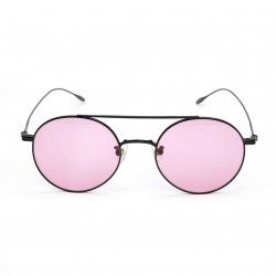 Stephane Christian Metal Black Frame Pink Lens Sunglasses
