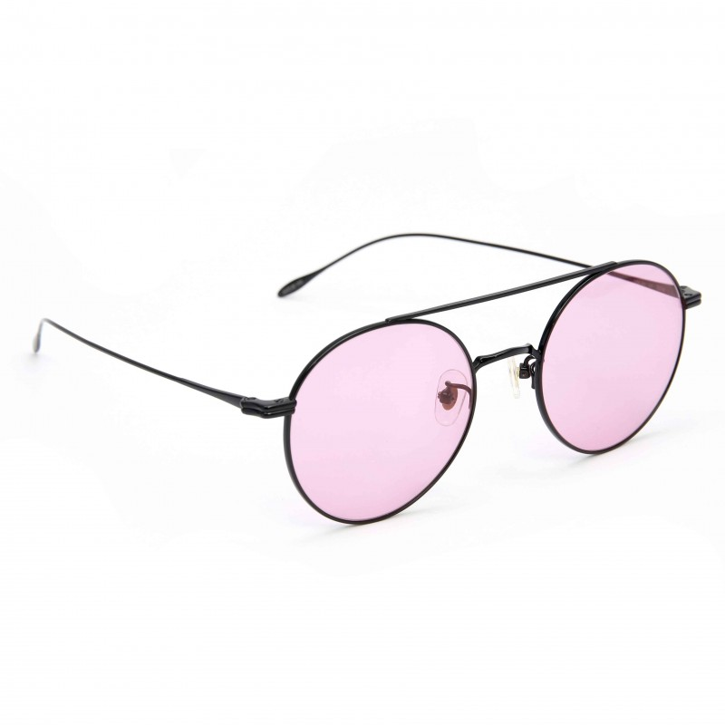 402b7e1b88e ... Stephane Christian Metal Black Frame Pink Lens Sunglasses ...