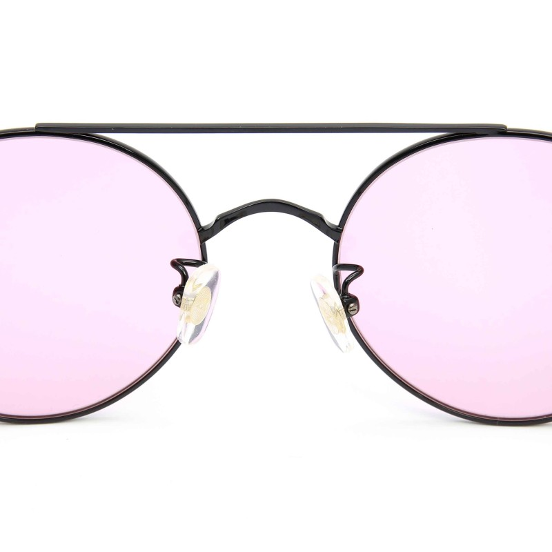 d0bfa8b14fb Stephane Christian Metal Black Frame Pink Lens Sunglasses - SDRE
