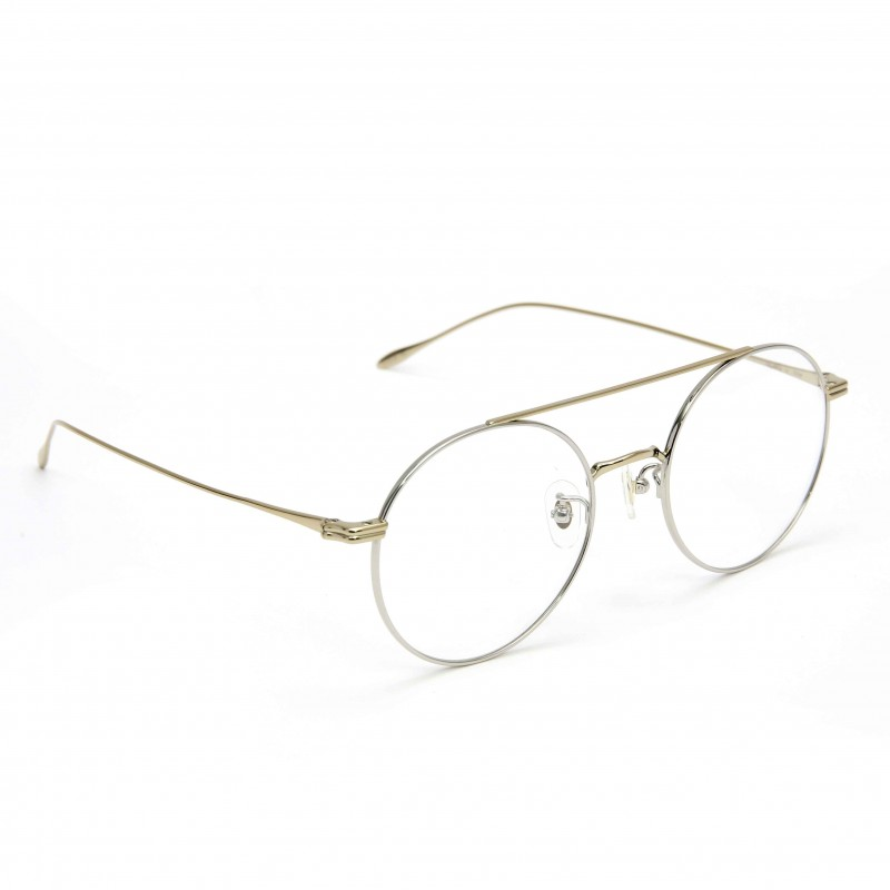 78a2642c077 ... Stephane Christian Metal Round Aviator Optical Glasses ...