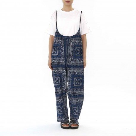 FIRST NAME Flower Pattern Suspender Pants