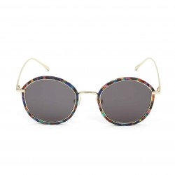 Stephane Christian Multicolour Frame Black Lens Sunglasses