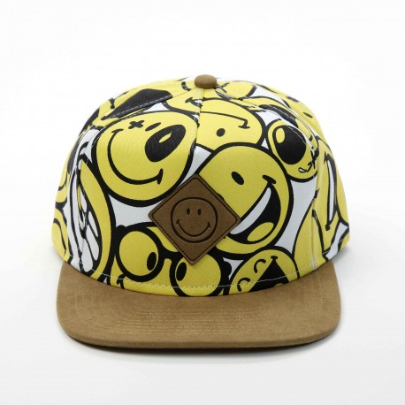 Smiley World Smiley Flat Eaves Baseball Cap