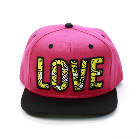 Smiley World Love Flat Eaves Baseball Cap