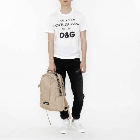 Dolce & Gabbana Slogan Cotton T Shirt