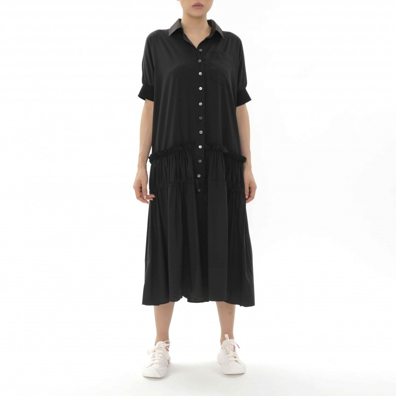 Enzuvan Drop Waist Shirt Dress