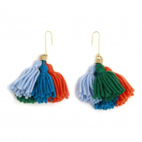 Monday Edition Wool Tassel Earrings