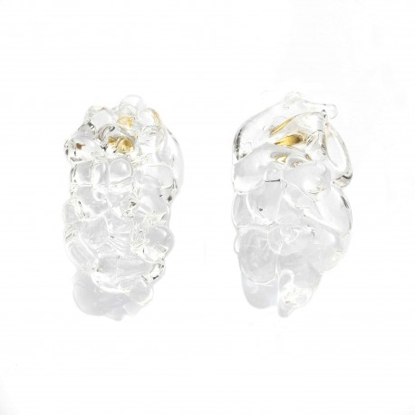 Monday Edition Bold Baroque Glass Earrings