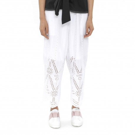 H'S CABINET Embroidered Pattern Pants
