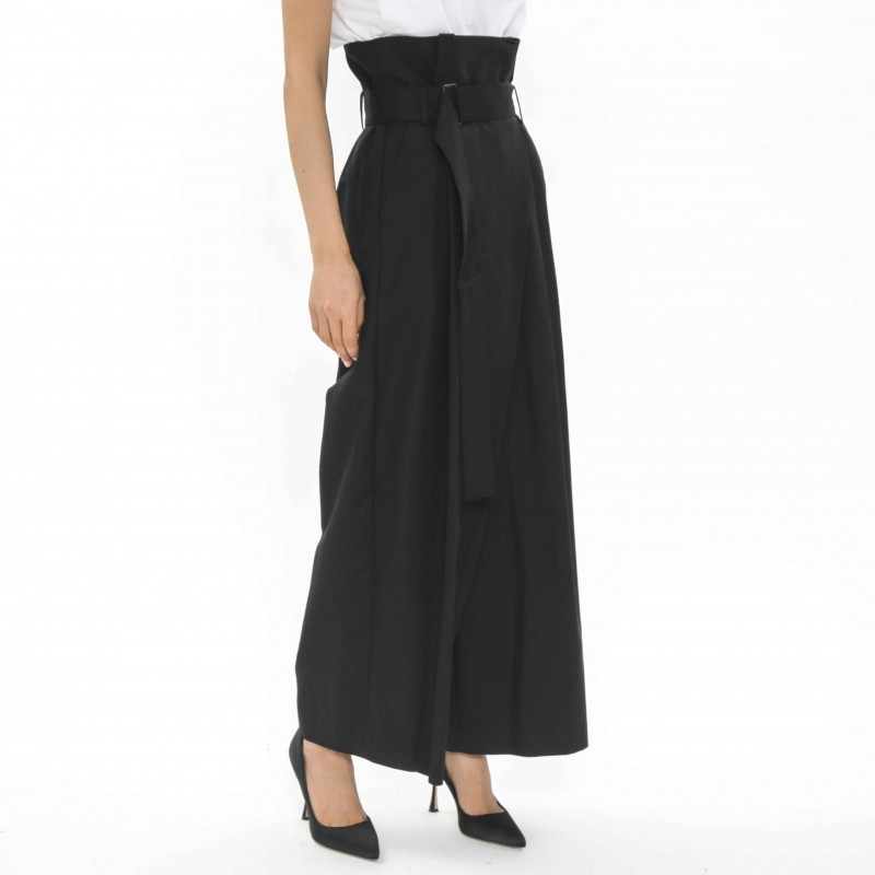 Enfold Belted Wide-leg Pants