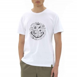 Smiley World Circular Graffiti Smiley Face T-shirt