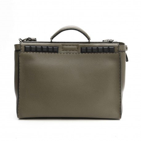 Fendi Peekaboo Regular Leather Selleria Handbag