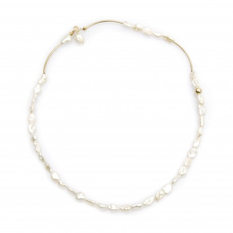 Vi.Ve Baroque Pearl Gold 2way Necklace