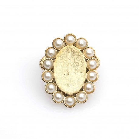 Vi.Ve Pearl Flower Ring