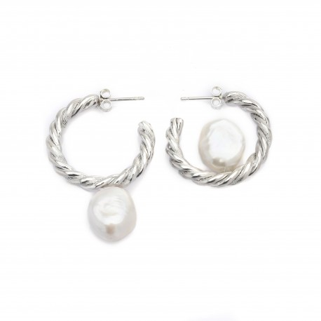 Vi.Ve Antique Twist One Point Ring Earrings